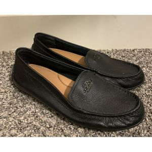 COACH Mary Lock Pebble Leather Driving Loafers 8 B